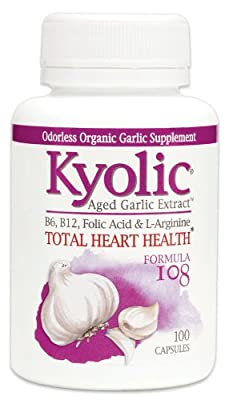 Kyolic Garlic Formula 108 Total Heart Health (100 Capsules) from Kyolic