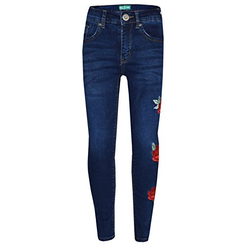 A2Z 4 Kids® Girls Stretchy Jeans Kids - Girls Jeans Embroidered 1 Blue 11-12