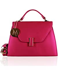 Serra Paris Designer Metallic Pink Sling Bag For Girls/Women