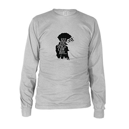 Space Cowboy - Herren Langarm T-Shirt, Größe: XXL, Farbe: weiß