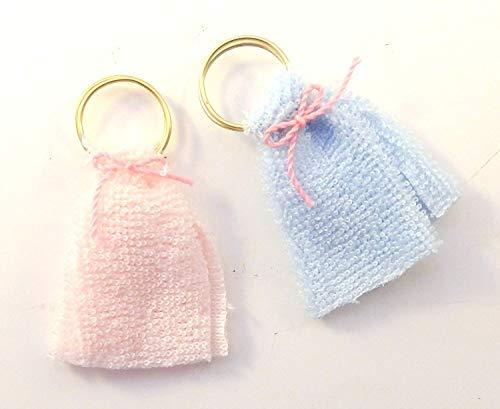 Melody Jane Puppenhaus Rosa & Blau Handtücher auf Ringe Miniatur 1:12 Badezimmer Zubehör 43mm Ring