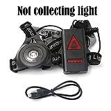 heresell Running Light Lampada USB Ricaricabile Corpo Torcia LED Bright Impermeabile Confortevole Alta visibilità Torcia con fanale Posteriore per i corridori notturni Jogging Dog