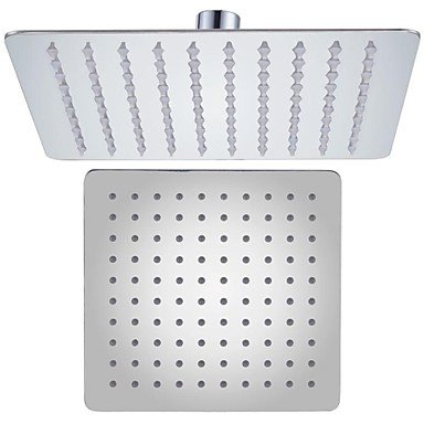 Miaoge Chrome ALL SUS304 Stainless Steel 8-Inch Shower Head Fixed Mount Rainfall Style Modern Square Ultra Thin, J211