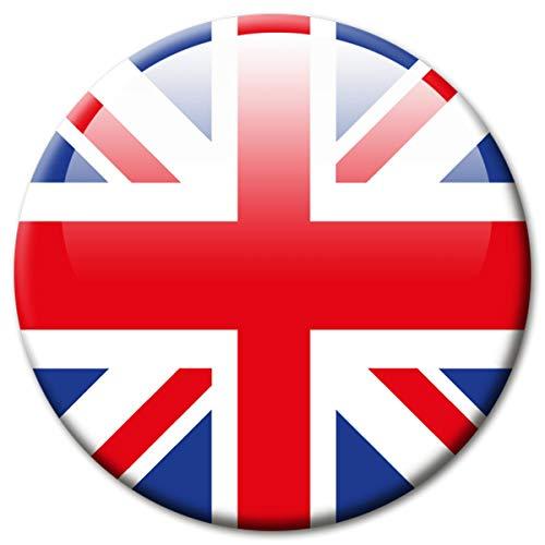 lagge UK United Kingdom Magnet Länder Flaggen Reise Souvenir Union Jack für Kühlschrank stark groß 50 mm ()