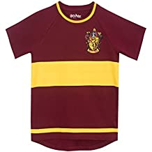 Harry Potter Boys Gryfindor Quidditch T-Shirt Ages 5 To 13 Years