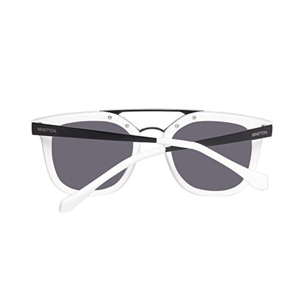 United Colors of Benetton BE992S03 Gafas de sol, White/Black, 50 Unisex