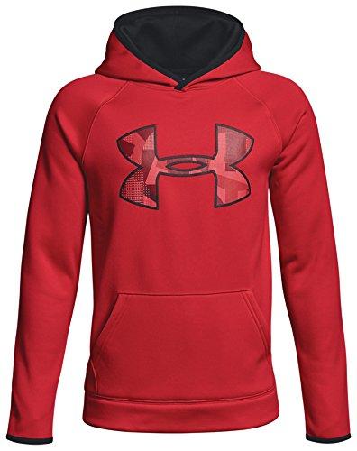 Under Armour AF Big Logo Hoody Sudadera, Niños, Rojo (602), L