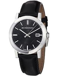 Burberry BU9009 - Reloj de pulsera hombre, piel, color negro