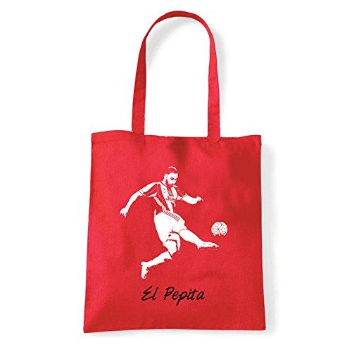 Art T-shirt, Borsa Shoulder El Pepita, Shopper, Mare Rosso
