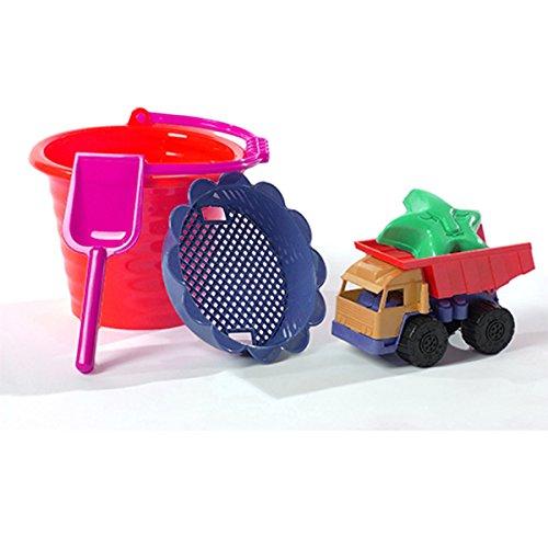 Preisvergleich Produktbild Sankasten Spielzeug Schippchen, Eimer, Formen (Rot)