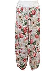 Damenhose Pumphose Baggy in Harem Stil, bedruckt und uni, elastischer Bund, MADE IN ITALY