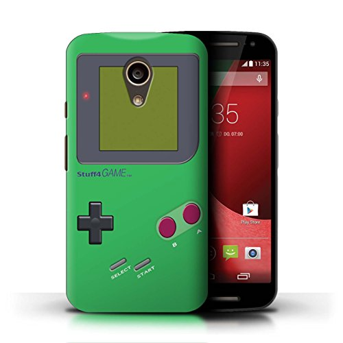 Stuff4 Hülle / Case für Motorola Moto G (2014) / Grün Muster / Videogamer/Gameboy Kollektion - Gameboy Moto Case Motorola G