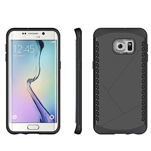 S6 Active Coque,EVERGREENBUYING Ultra Slim 2 léger couche SM-G890A Premium TPU Souple Etui de Protection, absorbant les chocs Anti-rayures Case Cover pour Samsung Galaxy S6 Active Argent Noir