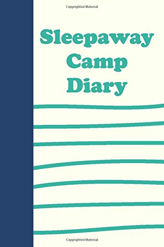 Sleepaway Camp Diary: Lined Journal in Blue and Green for Summer Journaling and Memories - Beatrice Stripe