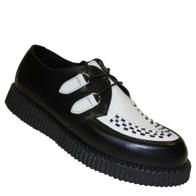 Boots & Braces - Creeper New Schwarz / Weiß Schwarz / Weiß