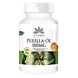 Herbadirekt PERILLA-ÖL 500mg 180 LiCaps - vegan