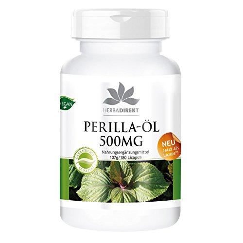 Herbadirekt PERILLA-ÖL 500mg 180 LiCaps - vegan -