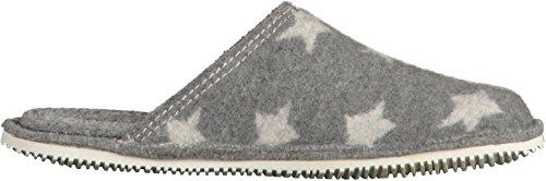 Living Kitzbühel Unisex-Erwachsene Pantoffel mit Dünnem Sternwalk Pantoffeln Grau