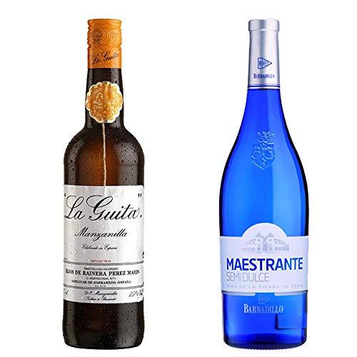 Manzanilla La Guita Y Maestrante Semidulce - D. O. Manzanilla De Sanlúcar De Barrameda Y Vino De La Tierra De Cádiz - 2 Botellas De 750 Ml