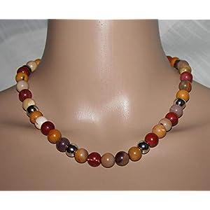 Halskette mit Halbedelstein bunt