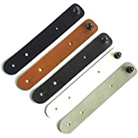 Kentop Bridas Snap Button Cable Keeper Hecho a Mano Cable Clips Cuerda Organizador Plana Cordones de Amarre Auricular Auriculares Wrap Winder Cable Manager