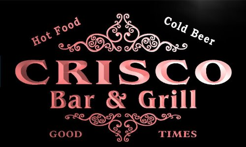 u09571-r-crisco-family-name-bar-grill-cold-beer-neon-light-sign-enseigne-lumineuse