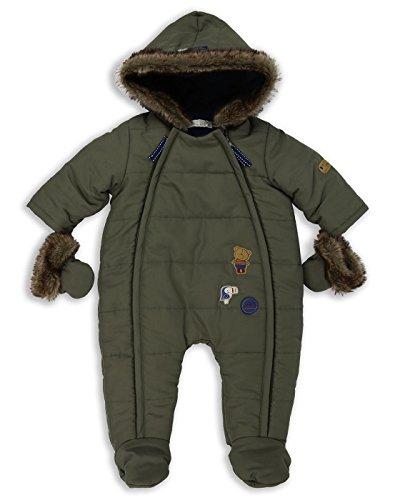 37b94a0e46440 The Essential One - Baby Jungen Kunstpelz Schneeanzug Snowsuit - Khaki -  62 68cm