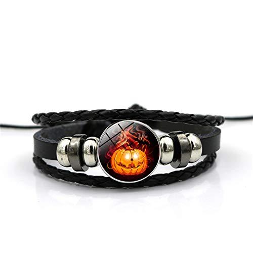 Adisaer Halloween Schmuck Bat Zeit Edelstein Armband Festival Armband Armband Damen Herren Alltag