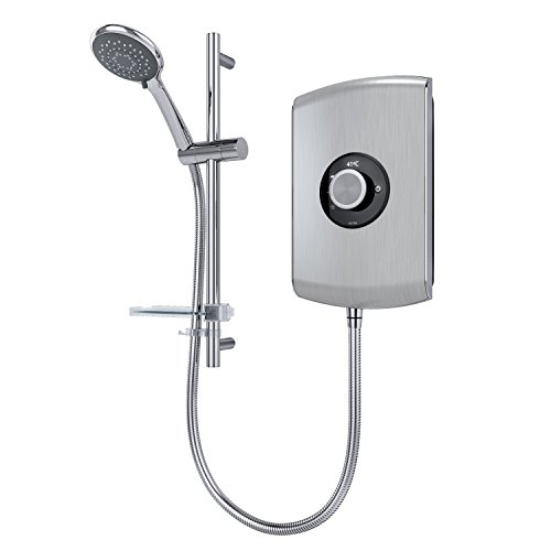 Triton Amore 9.5kW Electric Shower - Brushed Steel Best Price and Cheapest