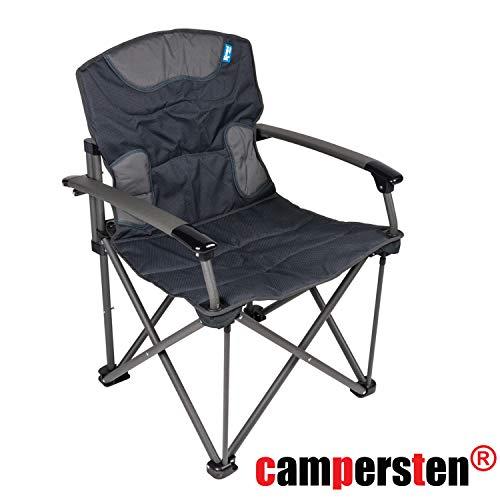 XXL Campingstuhl | EXTRA Starke Tragkraft | 180KG belastbar Komfort Klappstuhl - Extra Breiter Falt -