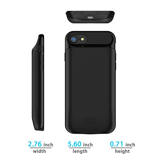 Custodia Batteria iPhone 7 / iPhone 8 , FindaGift 5000mAh Ultra Magro Esterna Batteria Covers Caricabatterie Power Bank Backup Custodia antiurto extra protettiva per iPhone 7 / iPhone 8