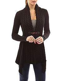 eeae66bac41b92 Landove Maglione Donna Manica Lunga Moda Mantelle Giacca Cappotto Cardigan  Irregolare Scollo V Maglioni di Maglia Maglieria Knitted…