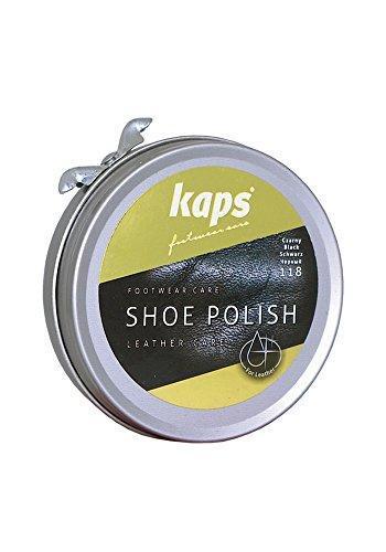 eb9445e1558cd Betún para zapatos Kaps, limpia, nutre, protege y abrillanta, 5 colores  negro 118 black
