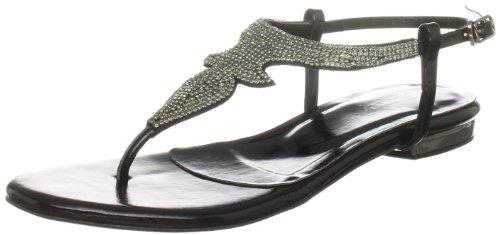 Unze Evening Sandals, Sandali infradito donna Nero (Schwarz (L18493W))