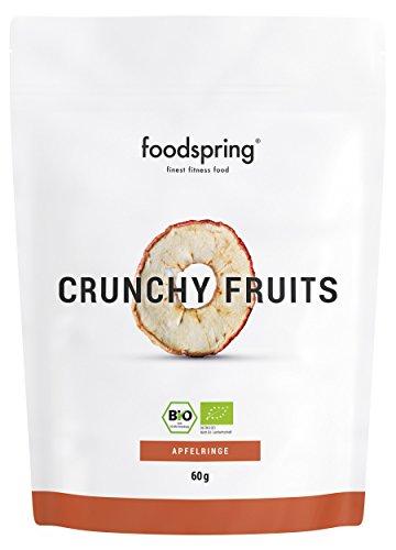 foodspring Crunchy Fruits Bio Apfel, 60g, Premium Trockenfrüchte, Hergestellt in Deutschland ohne Zuckerzusatz