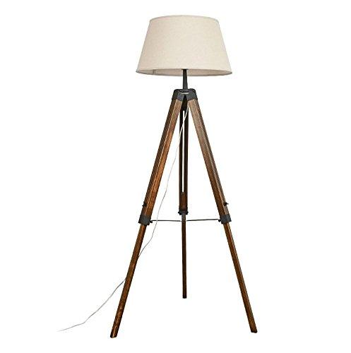Stehlampe Retro- Wohnzimmer-Kreative Feste Hölzerne Stativ-Fußboden-Lampe Wohnzimmer (Hölzerne Lampe)