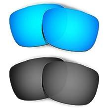 Hkuco Plus Mens Replacement Lenses For Oakley TwoFace Sunglasses Blue/Black Polarized
