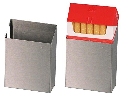 Abbildung: Jean Claude Cover offen für Zigarettenschachteln gebürstetes Aluminium Hülle für Zigaretten Packung