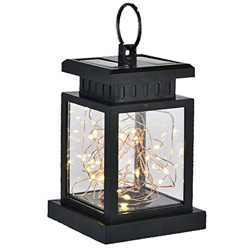 YNSNCX Lámpara De Pared Impermeable Vintage Decoración De Energía Solar Luz De Pared Retro Jardín...