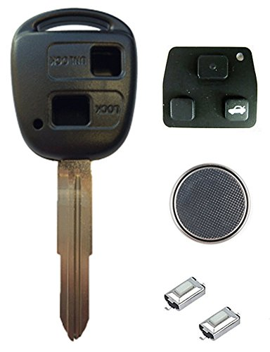 toyota-diy-repair-kit-replacement-2-button-remote-car-key-fob-case-with-toy41-blade-2-micro-switches