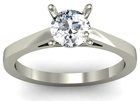 GIA Certified Round Brilliant 0.30ct D/IF Solitaire Diamond Ring -