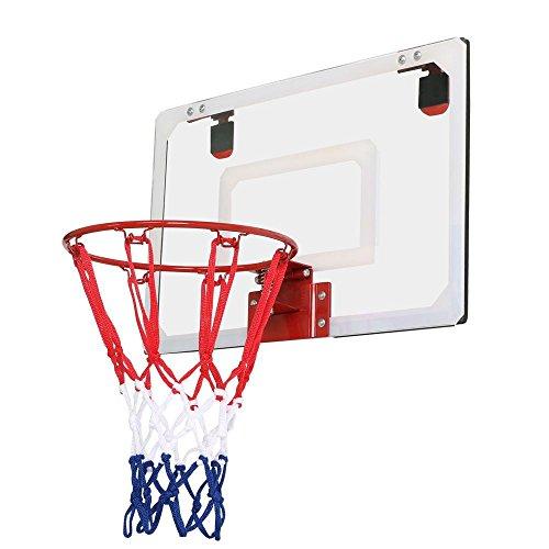 Yahee Basketballkorb Mini mit Ball + Pumpe Basketball Set, 45,7 x 30,5 x 5 cm