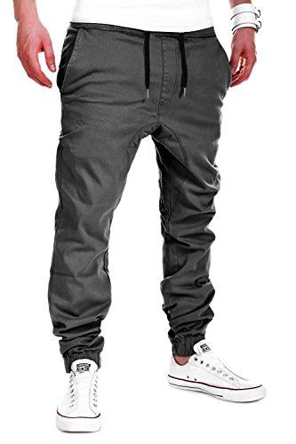 MYTRENDS Styles MT Styles Harem Jogger Chino-Hose C-60 [Dunkelgrau, W36]