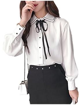 Cinta moño gasa blusas White M