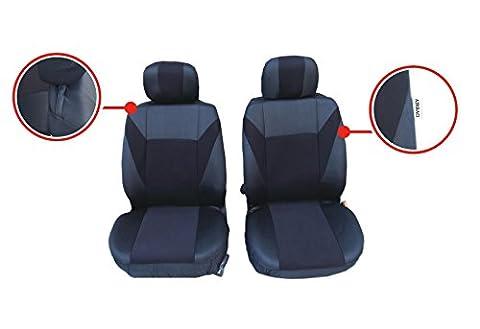 2 vordere Auto Sitzbezug Sitzbezüge Schonbezüge Schonbezug Universal Set Schwarz