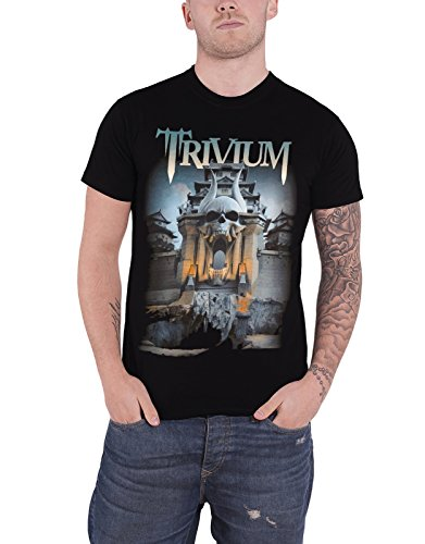 Trivium T Shirt Silence in The Snow Band Logo Official Mens