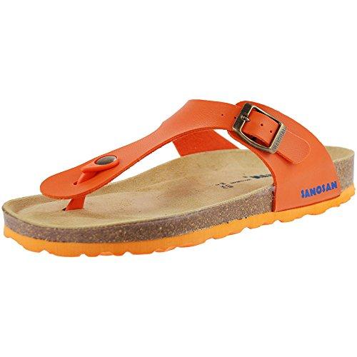 e9a279c30f sanosan Geneve Mujer Toe Post Sandalias sanoflor Naranja, Color Naranja,  Talla 37