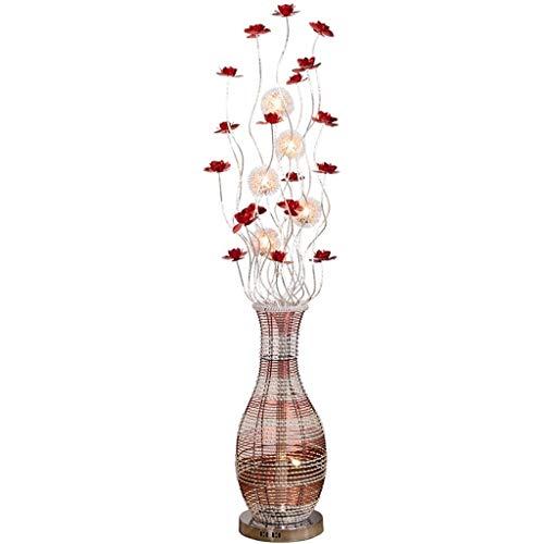 Standleuchten Stehlampen Stehleuchten Handgewebte Art Vase Stehleuchte Im Europäischen Stil Aluminiumdraht-Lampe Neujahr Hochzeit Festliche Geschenk Leuchte Stehleuchte (Color : Remote control) -