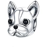 Charms Bead Bulldog, Donne Charm Pandora Gioielli Argento Placcato Puppy Dog Animal Bracciali Vintage Accessori per cani Migl