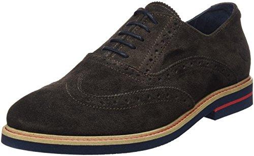 El Ganso Uomo Zapato Oxford Ante Marrón Scarpe Marrone Size: 43